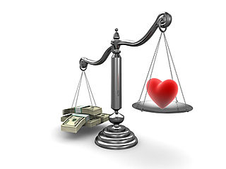 Scales with Money and Heart MC900438796