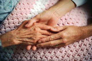 Elderly Holding Hands MP900407501