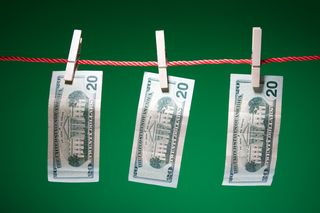 Money on Clothes Line MP900442387
