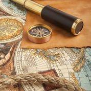 Map with Compas and Telescope XhfK1AKuctJTi7kO1yCYRny4UTg2r-jLum2J99SzlRU